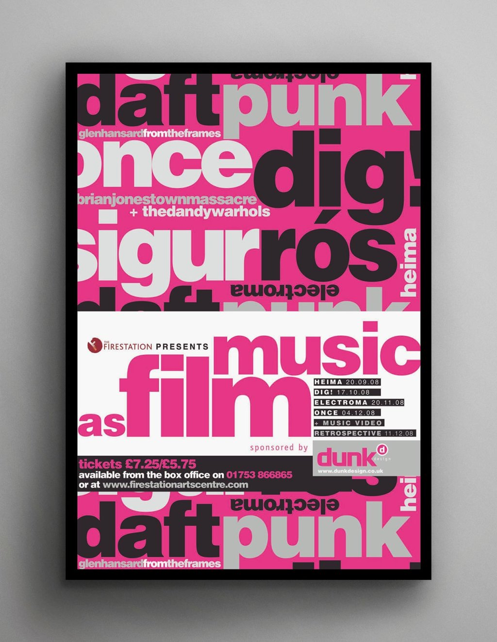 Music as film poster