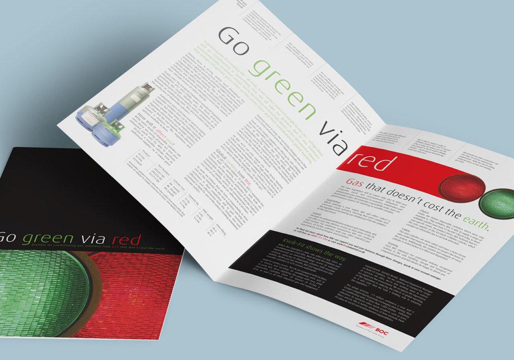 BOC go green via red brochure