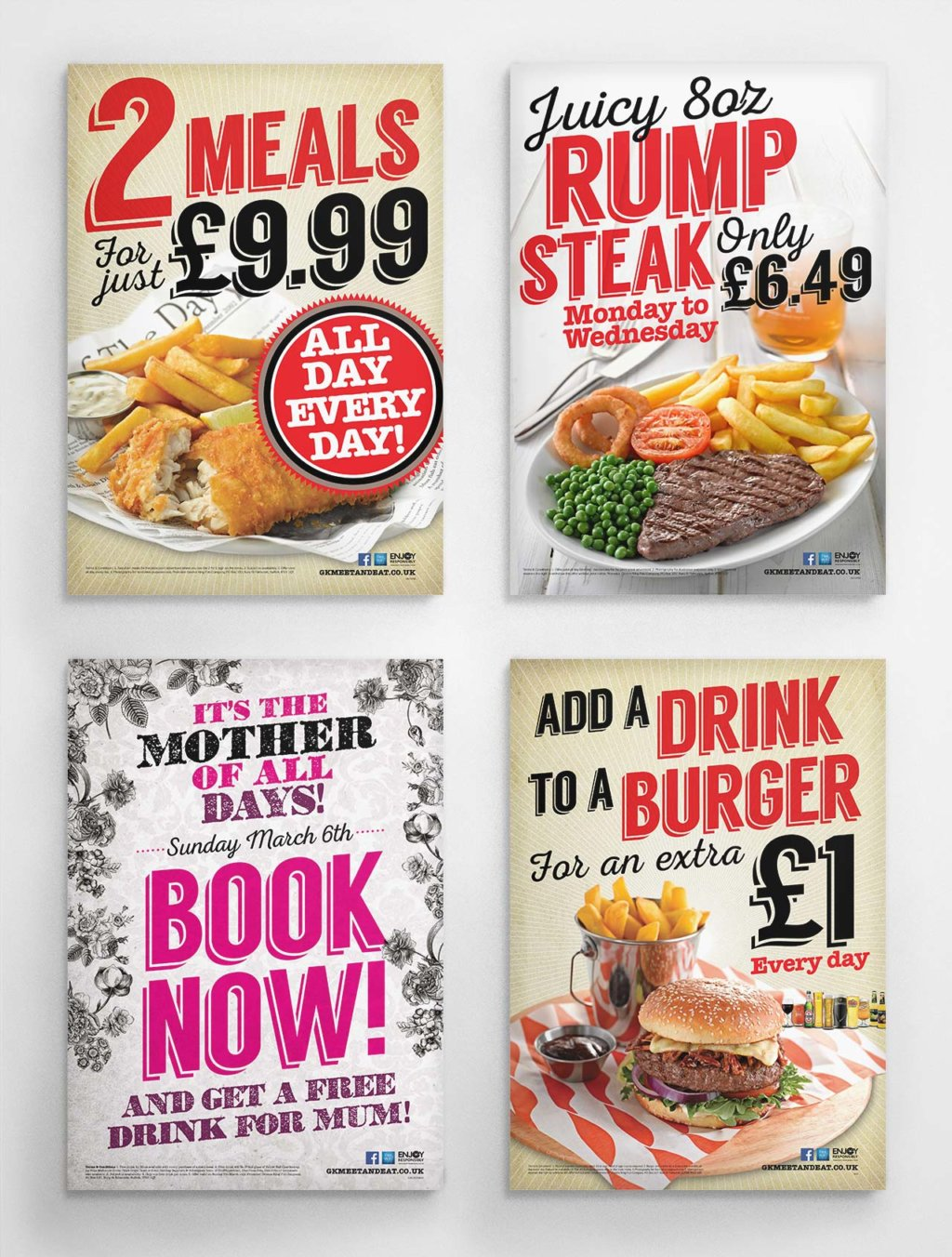 Greene King offer posters