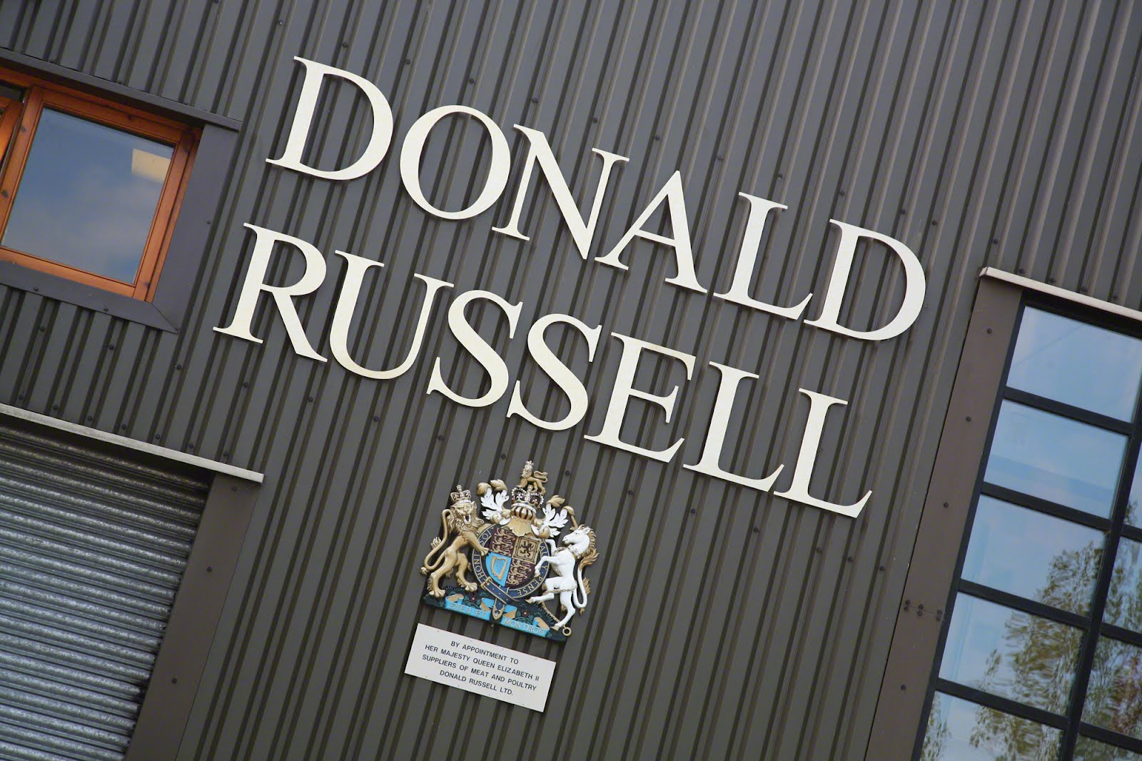 Donald Russell factory exterior sign