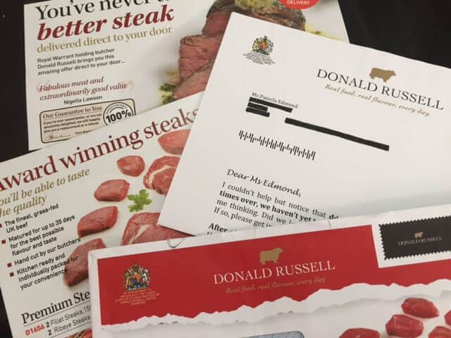 Donald Russell direct mail