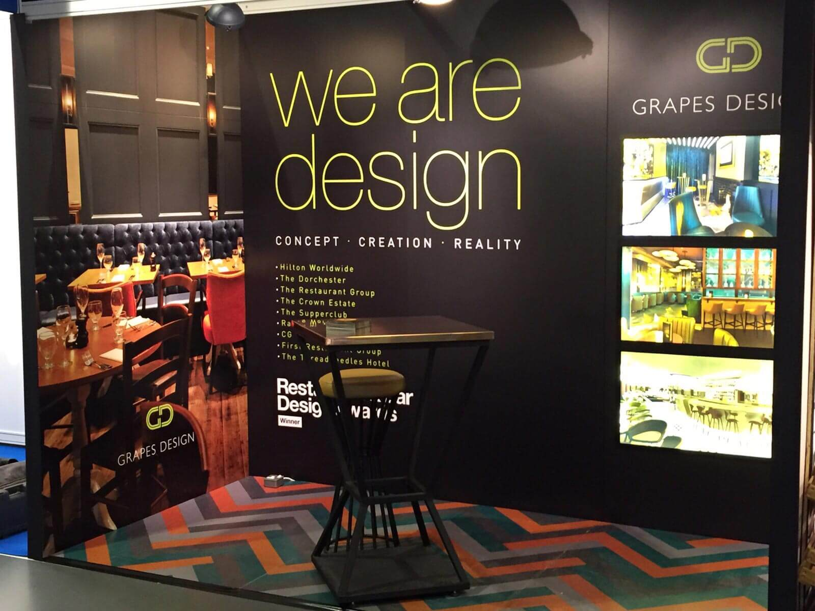Grapes exhibition stand design 2015