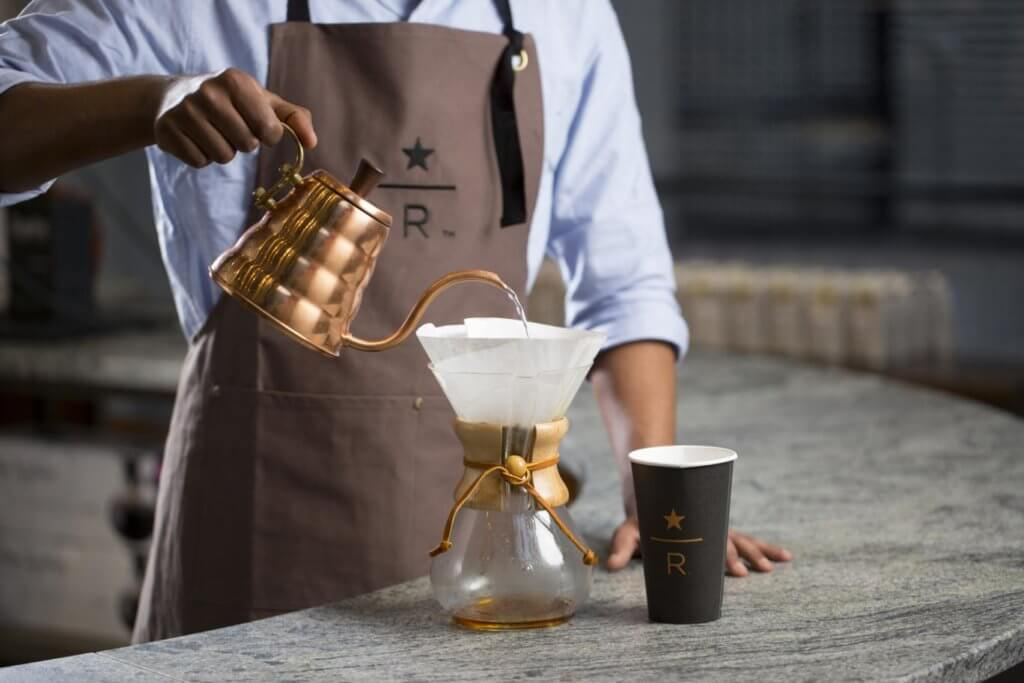 Starbucks Reserve coffee filter and cup