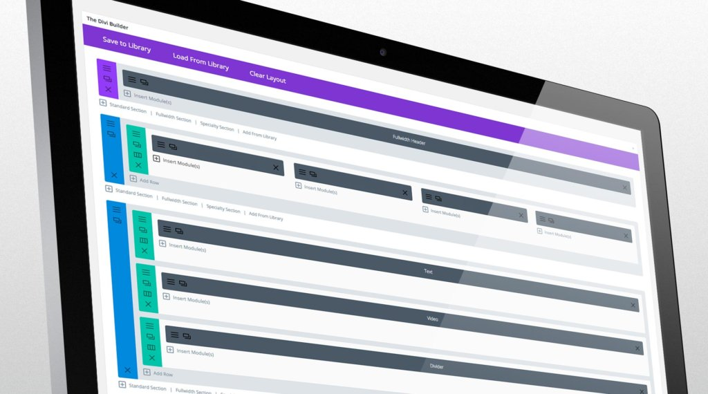 Divi builder page view