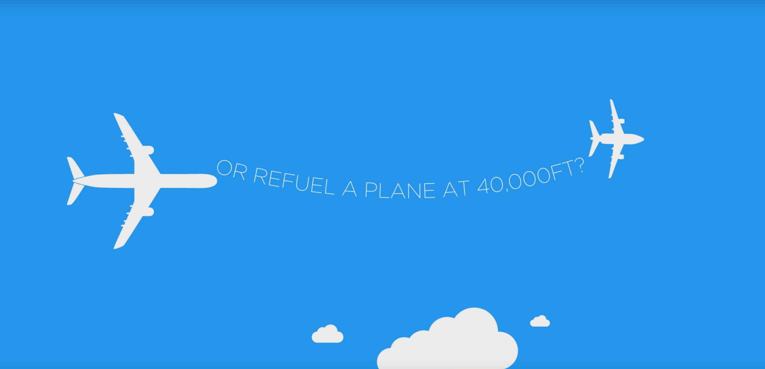 Aeroplane and sky animation with clouds