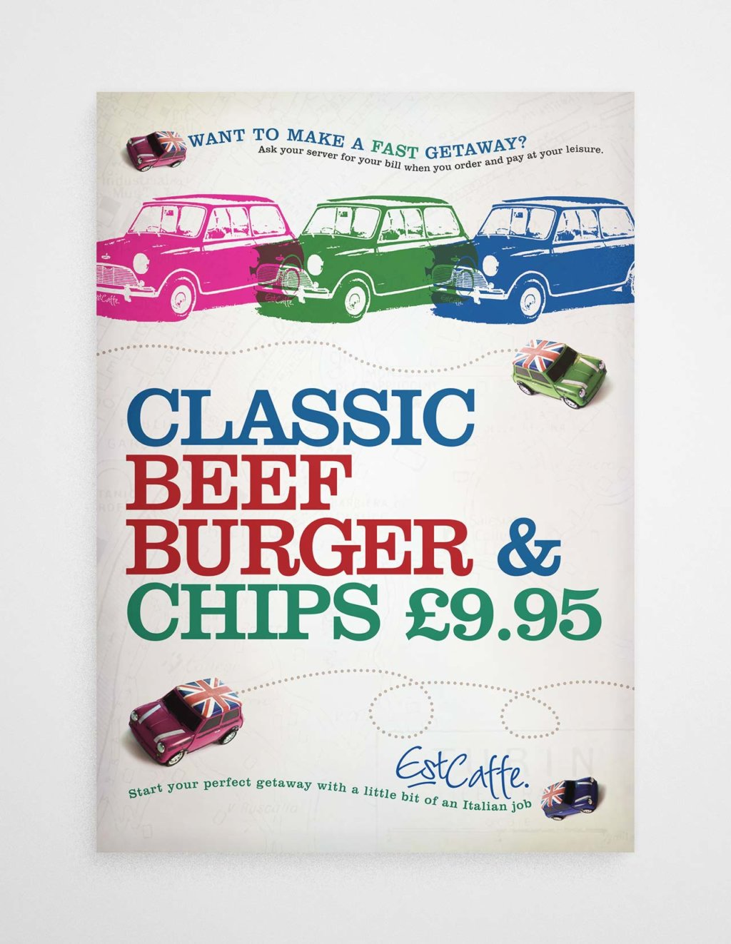 Est Caffe Luton burger poster