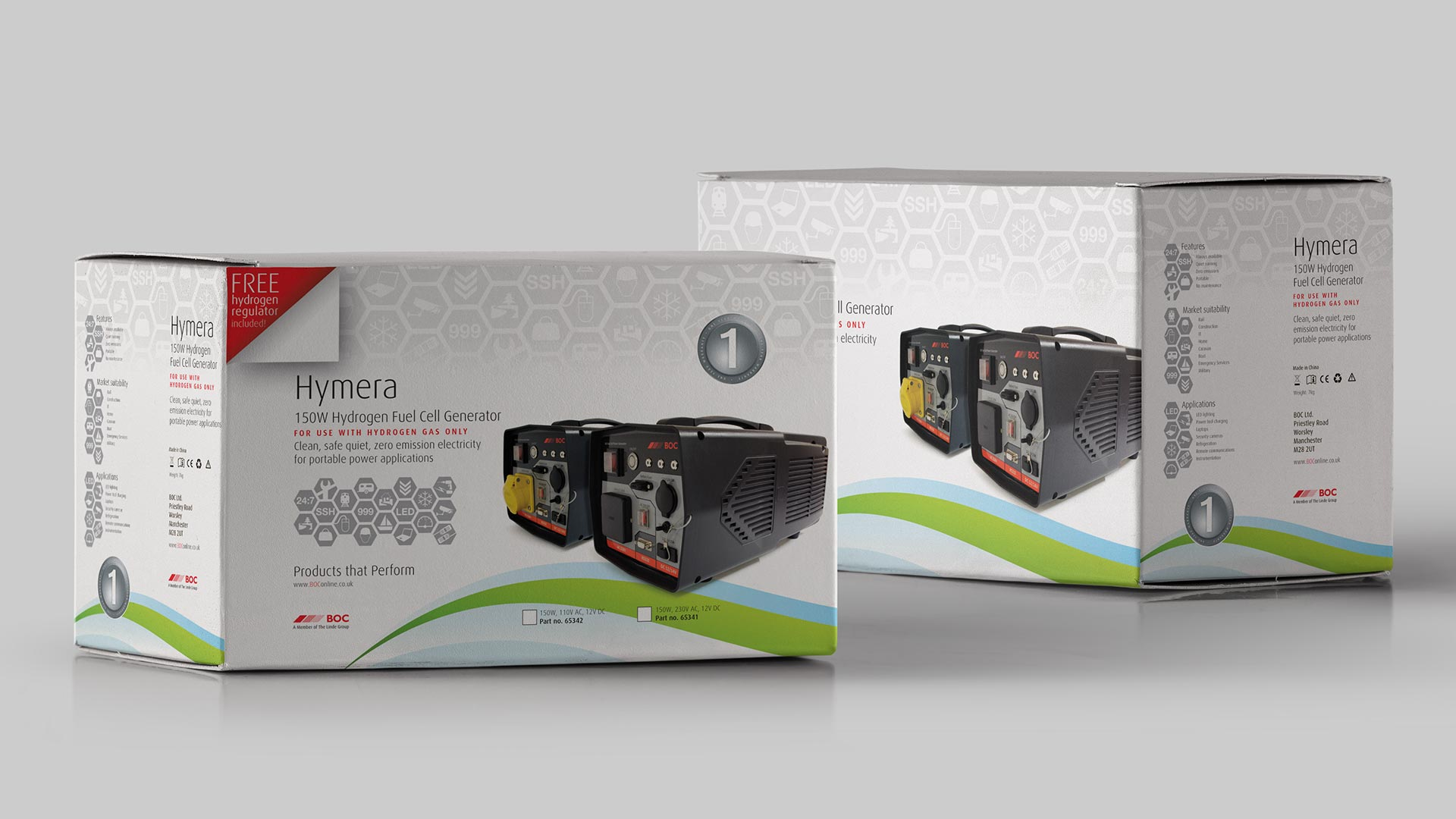 BOC Hymera Hydrogen Fuel Cell packaging