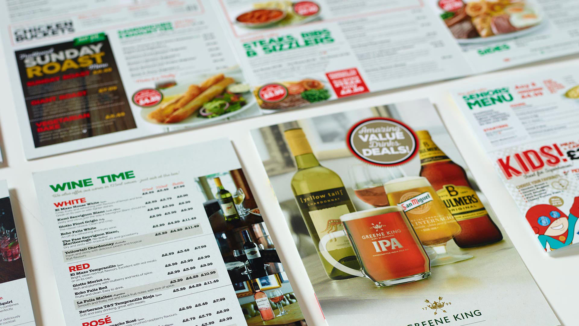Greene King Menus
