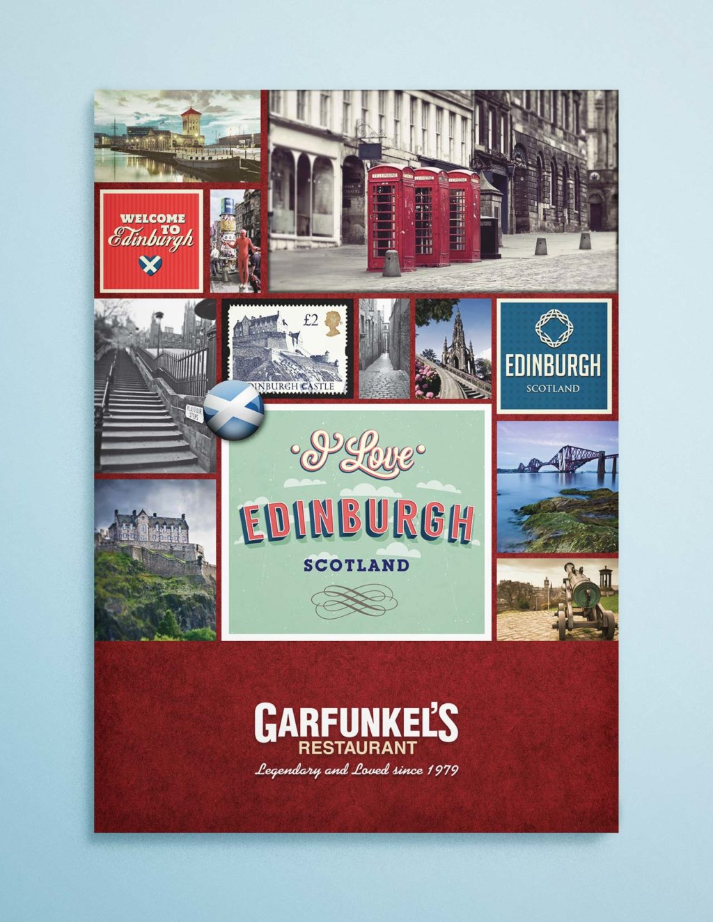 garfunkels edinburgh menu cover