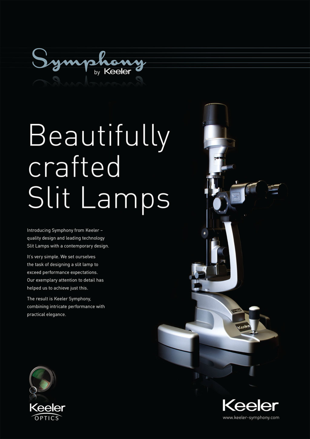 keeler symphony slit lamp advert