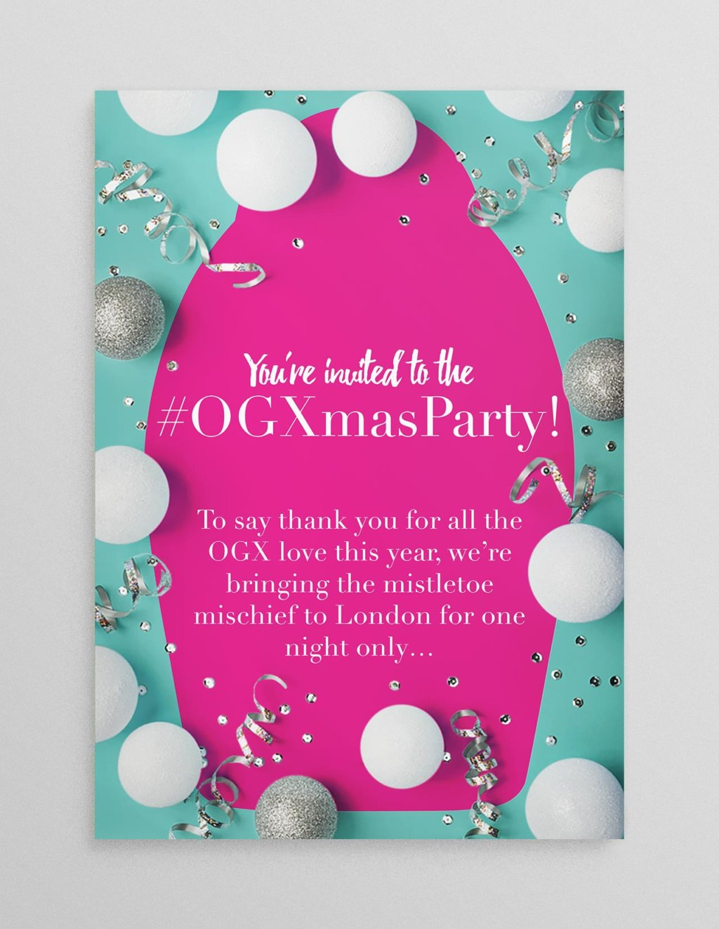 ogx christmas invitation
