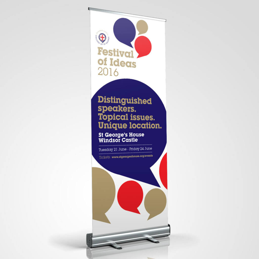 St George's House Festival of Ideas pull up banner