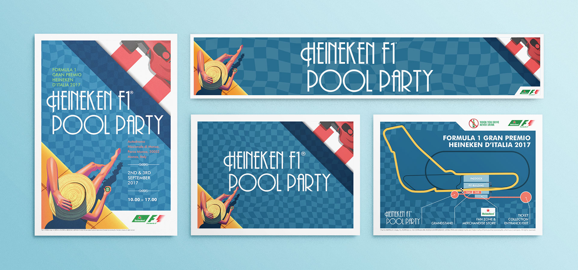 heineken f1 pool party graphics