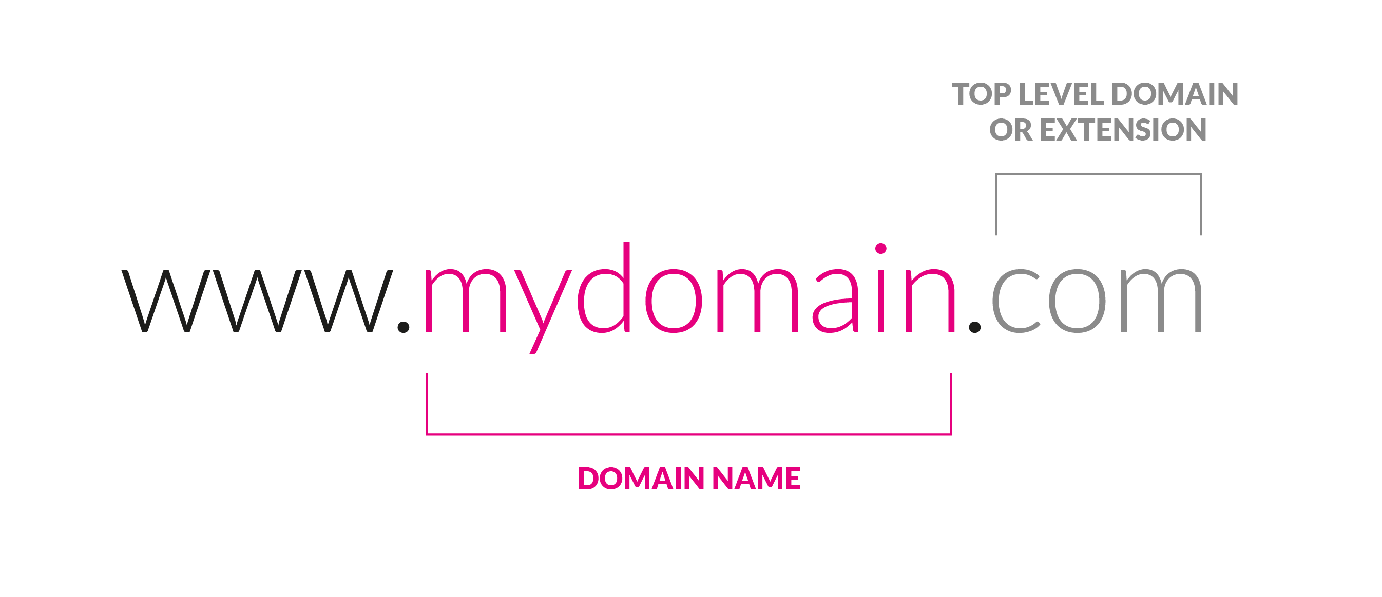 breakdown of what makes up a domain name