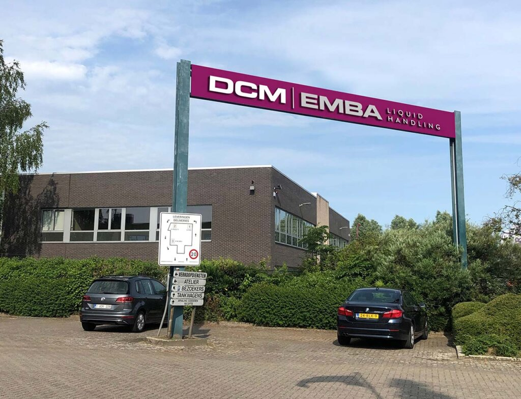 DCM EMBA car park sign